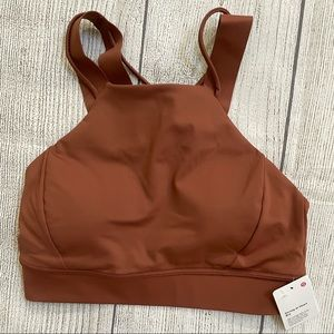NWT Lululemon Strong at Heart Bra ANCIENT COPPER 6
